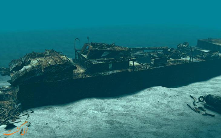 کشتی های غرق شده