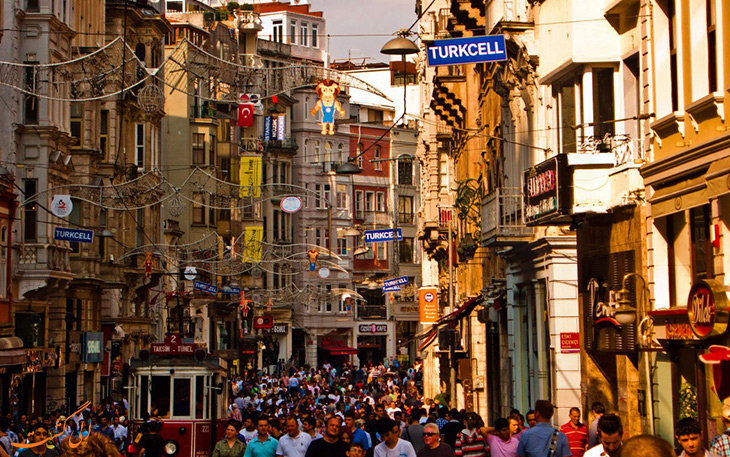 خیابان ها برای خرید در استانبول