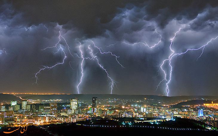 رعد و برق های شهر پرتوریا