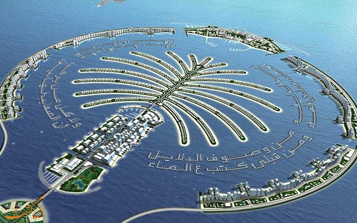 نمایی کلی از جزیره های مصنوعی دبی