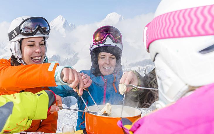 فوندو در پیست اسکی