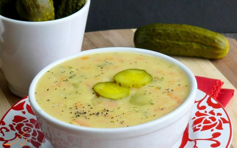 سوپ خیارشور