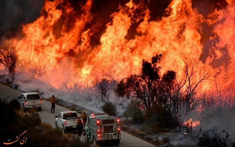 آتش سوزی کالیفرنیای آمریکا