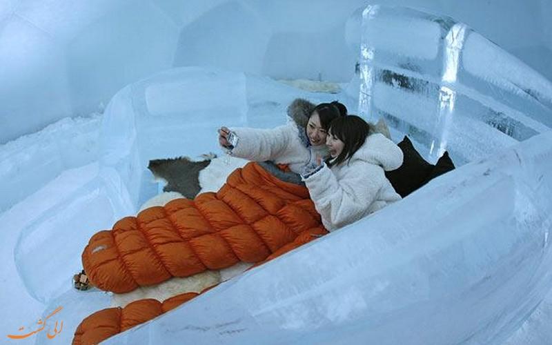 دهکده یخی جزیره هوکایدوی ژاپن