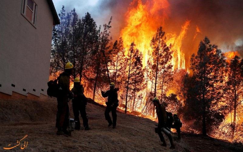 آتش سوزی در کالیفرنیا آمریکا