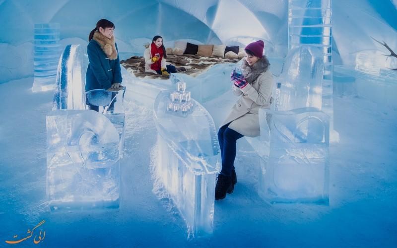 دهکده یخی در ژاپن