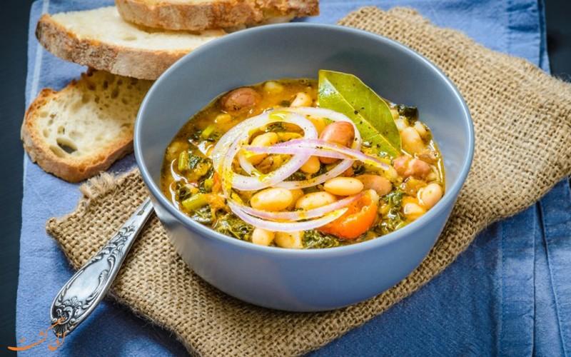 سوپ لوبیا توسکانی