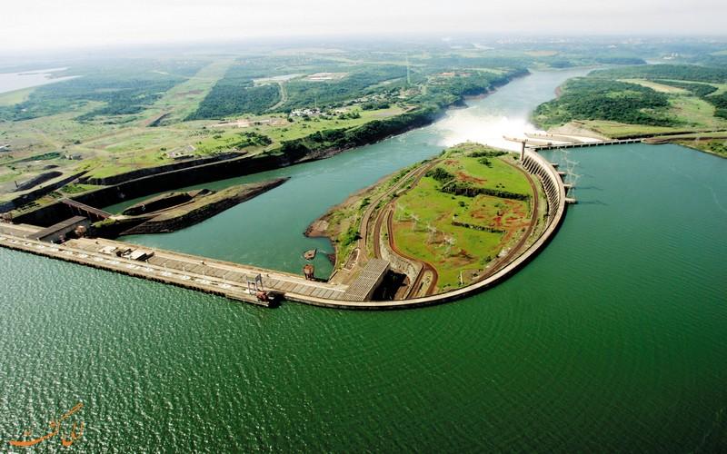 سد بزرگ ایتایپو در مرز برزیل و پاراگوئه