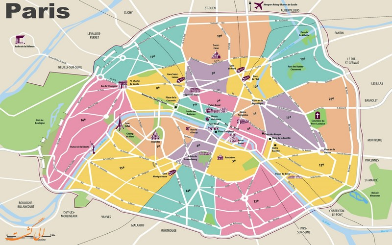 مناطق بیست گانه پاریس