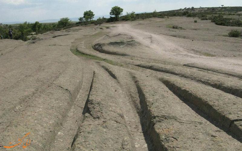رد لاستیک های باستانی در ترکیه