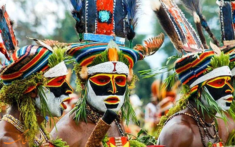 پاپوآ گینه نو قبیله های مختلف