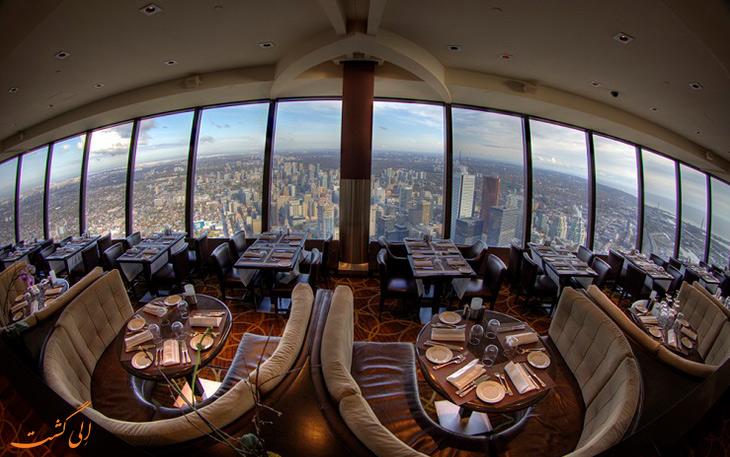 رستوران 360 درجه ی برج سی ان