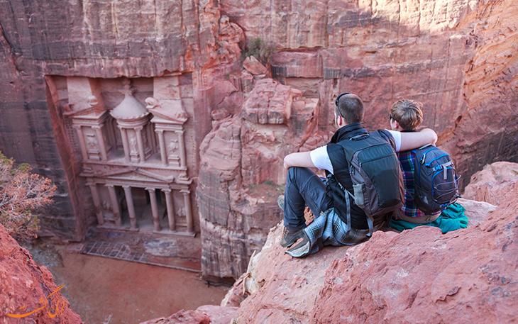 گردشگران در پترا در اردن