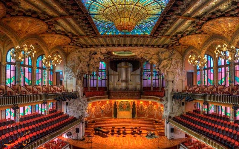 سالن کنسرت پائولا دلا موسیکا کتالانا، اسپانیا | Palau de la Música Catalana