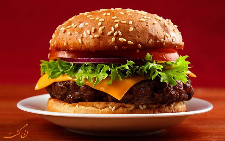 همبرگر هامبورگی