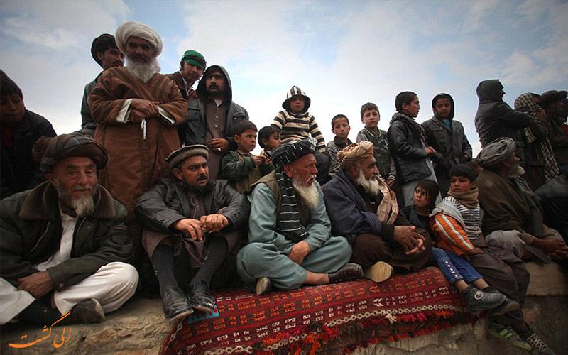 تماشاچیان مراسم بزکشی افغانستان