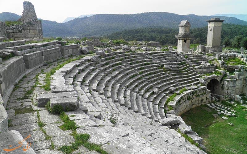 شهر باستانی لیکیه ترکیه-زانتوس
