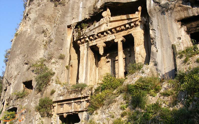 شهر باستانی لیکیه ترکیه و مقبره های