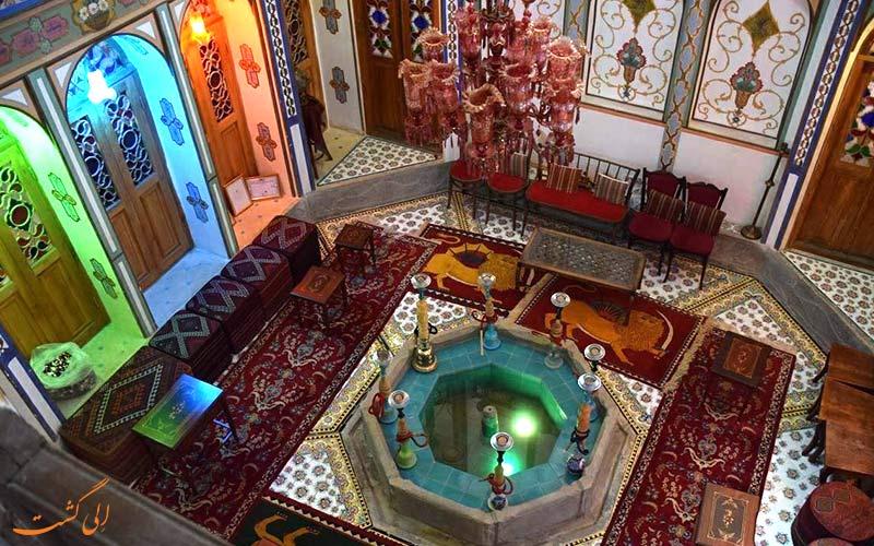فضاهای مختلف خانه ملا باشی اصفهان