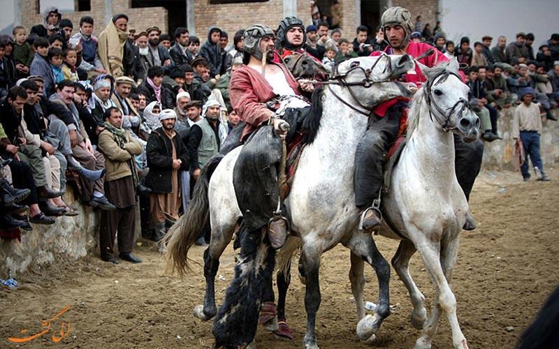 مراسم بزکشی افغانستان از جاذبه های گردشگری افغانستان