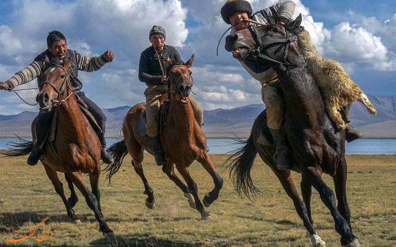 مراسم بزکشی در مغولستان