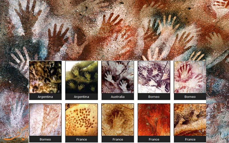 شباهت بین تمدن های باستانی و نقاشی دست