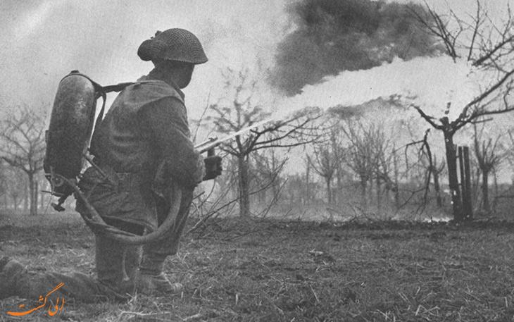 سلاح پرت کننده آتش در جنگ جهانی