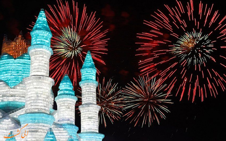 فستیوال مجسمه های یخی چین