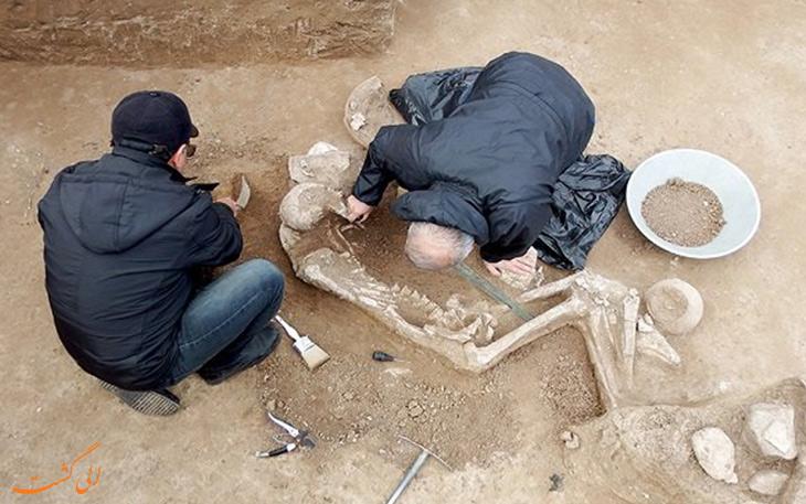 باستان شناسان در گور جنگاور سه هزار ساله