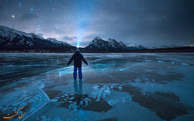 دریاچه ی آبراهام در کانادا