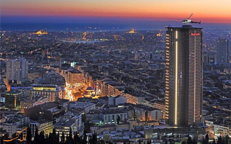 هتل مریوت شیشلی استانبول