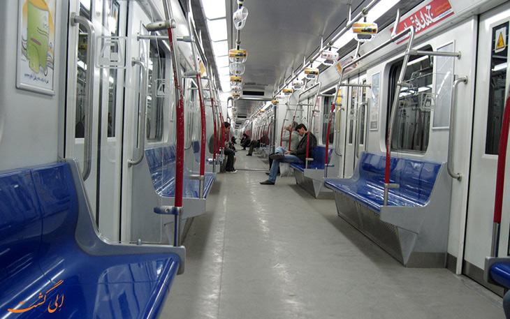 داخل قطار تهران