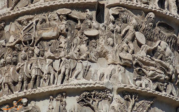 ساختار ستون مارکوس اورلیوس