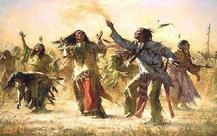 رقص شبح سرخ پوستان