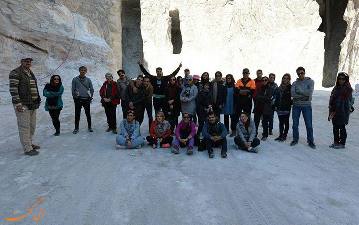 تورهای گردشگری در تونل نمکی در گرمسار