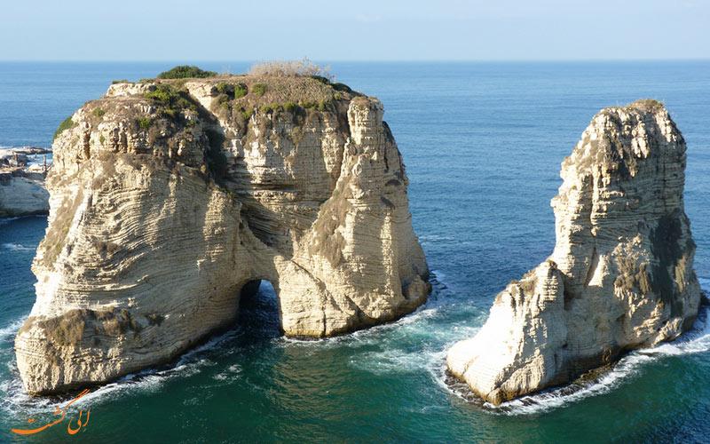 امکانات و تفریحات موجود در صخره های روشه در بیروت