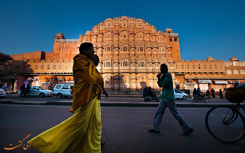 قصر هوا محل در جیپور   Hawa Mahal