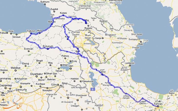 راهنمای سفر زمینی به گرجستان