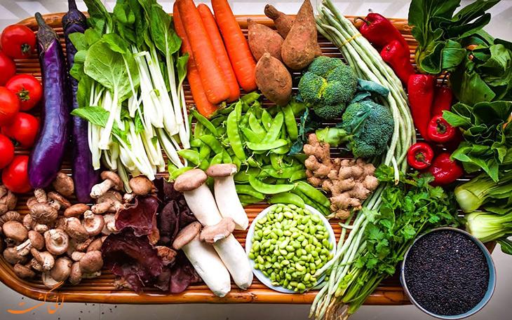 سبزیجات در غذای چینی