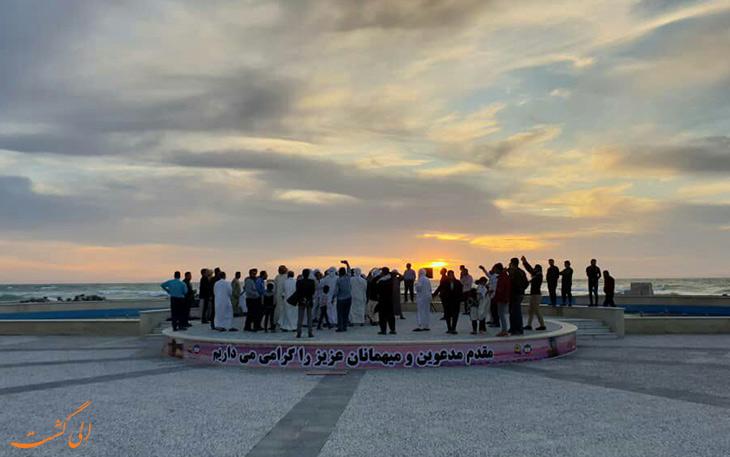 افتتاح دهکده گرشگری ساحلی نخل تقی