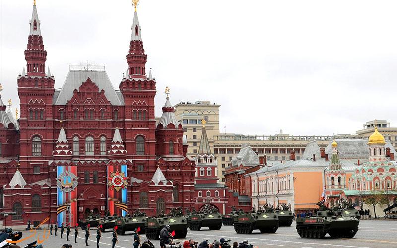 رژه در میدان سرخ مسکو