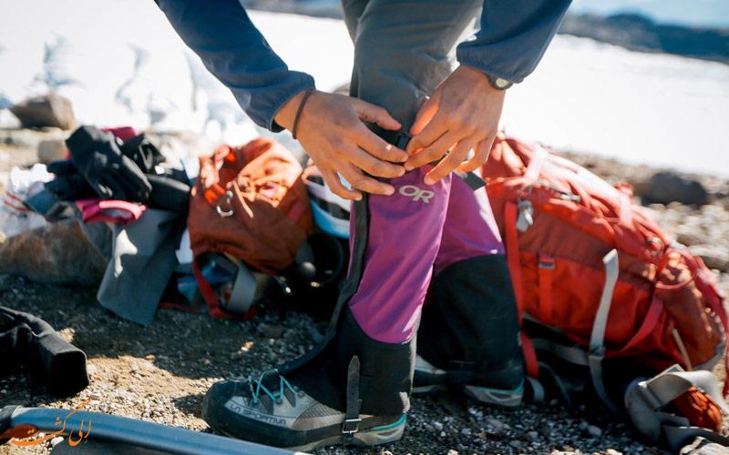 گتر از وسایل مورد نیاز کوهنوردی