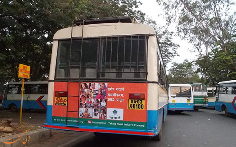 یکی از اتوبوس های شهر گوا