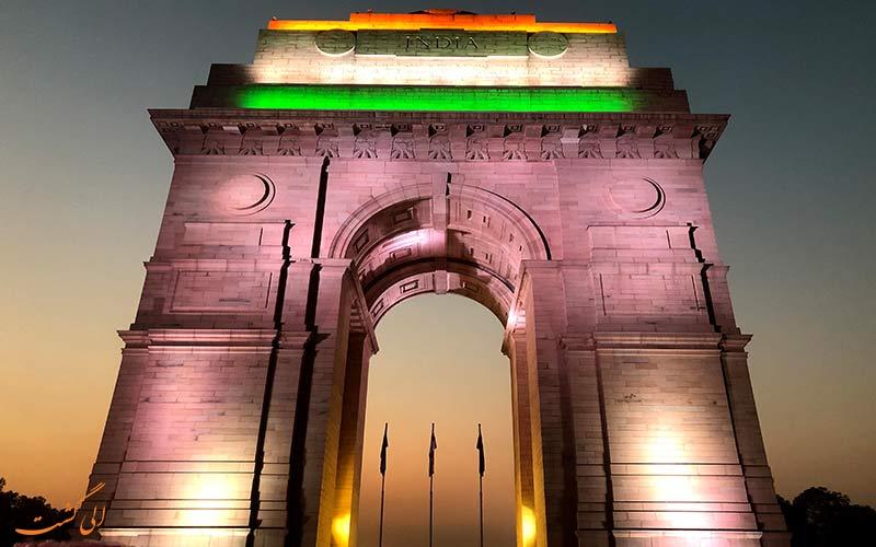 دروازه هند، بنای یادبودی از تمام جنگ های هندوستان در دهلی نو