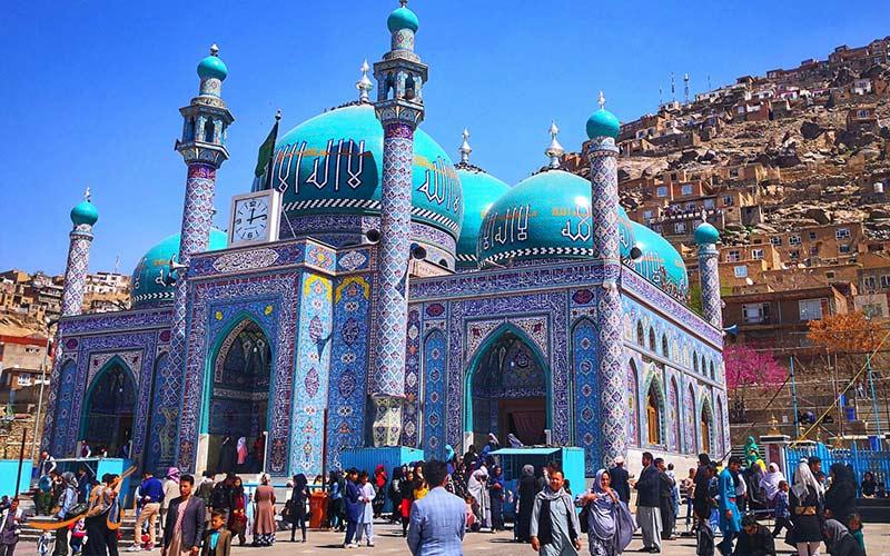 بازدید مسجد سخی کابل در سفر زمینی به هند از ایران