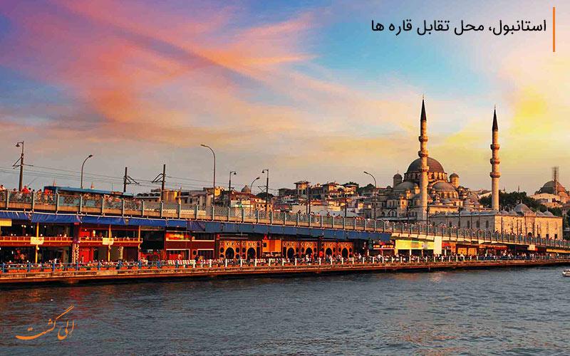 نمایی از شهر استانبول و مسجد ایاصوفیه
