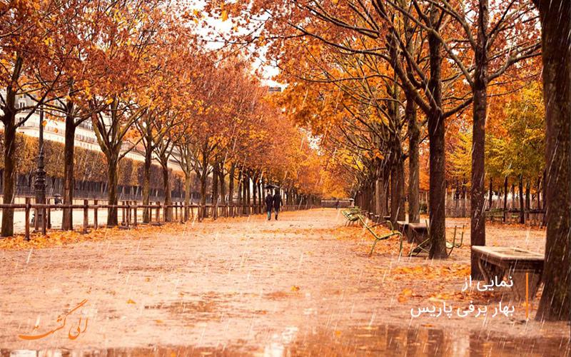 بارش برف بهاری در خیابان های داریس