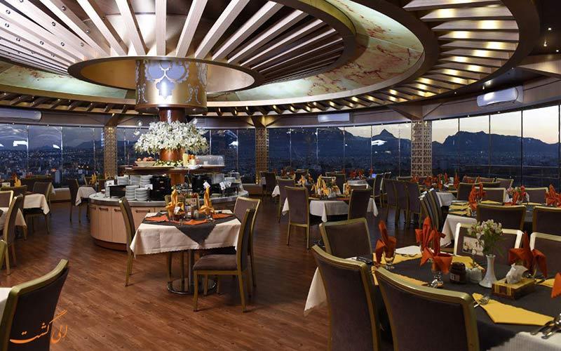 هتل آسمان، تنها رستوران گردان شهر اصفهان