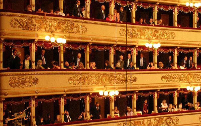 تراس های نمایش سالن اپرا لا اسکالا