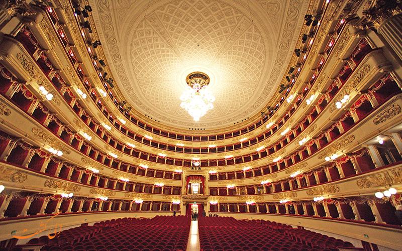 تماشای نمایش درون سالن اپرای لا اسکالا در میلان